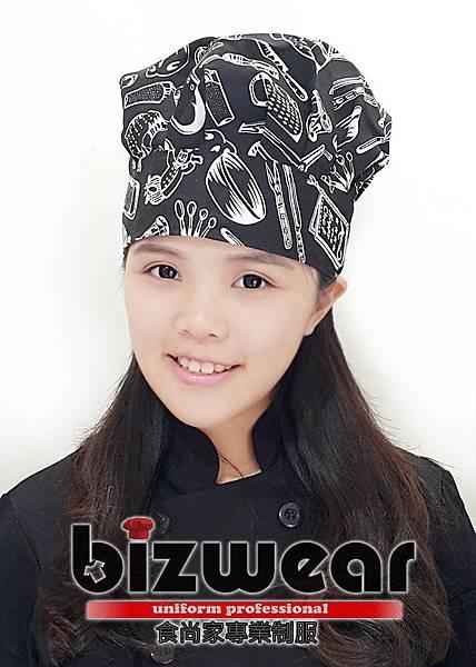 黑白廚具塗鴨大香菇1