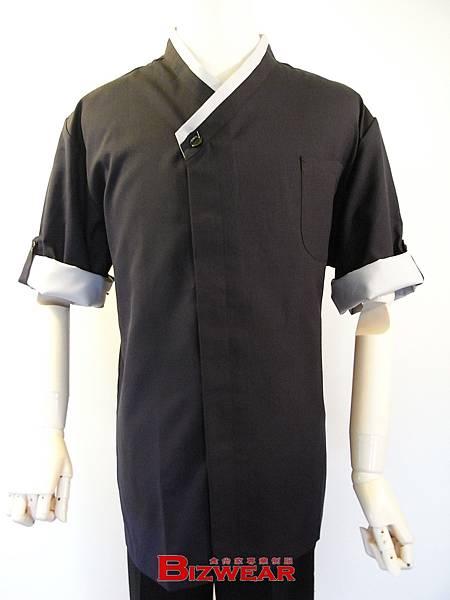 日式斜襟袖釦藍灰配.jpg