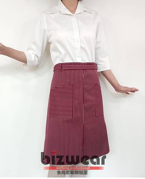 紅白條紋半身圍裙2.jpg
