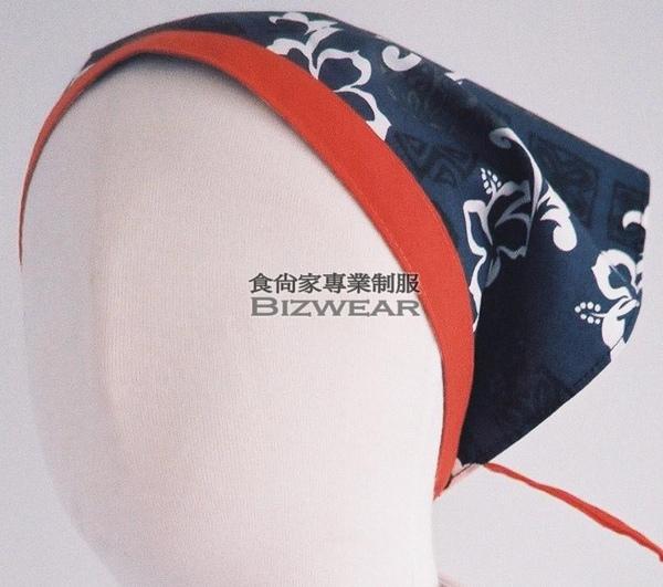 小三角-印花藍色扶桑花紅邊.jpg