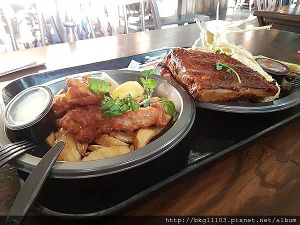 炸魚薯條&豬肋排
