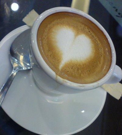 爱心咖啡。