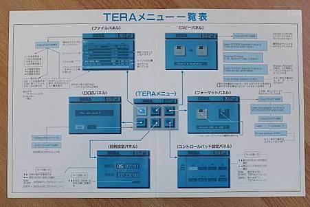 TeraDrive選單一覽表
