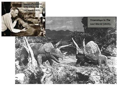 1925年的《失落的世界》以粘土定格攝影2