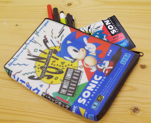 sonic gamebox style pencil case