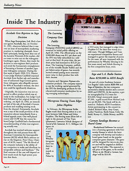Inside the industry RED