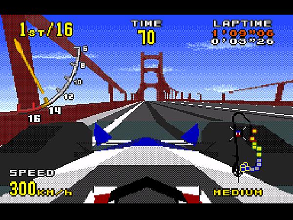 D中(VR1 為駕駛座視點。很有臨場感,但操作不易,屬較熟練的進階玩法。)