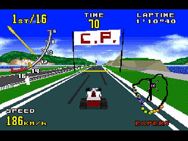 K(VR3 為略高的車後視點,操作上挺容易的。)