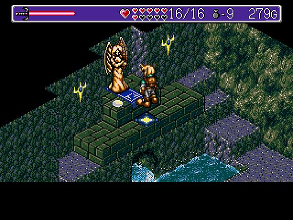 F(遊戲中的女神像除了回復HP外還有就是當機關用。)