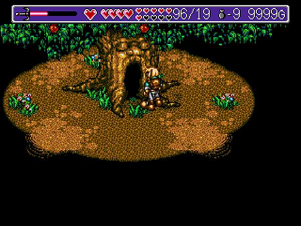 K(為大樹解決事件之後,各處的樹洞就可以穿梭往來)