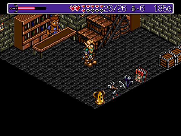 O(協助梅卡多病倒的老闆之後,他居然開了一間賣怪怪物品的店。粉紅色的書刊看了體力會減少。)