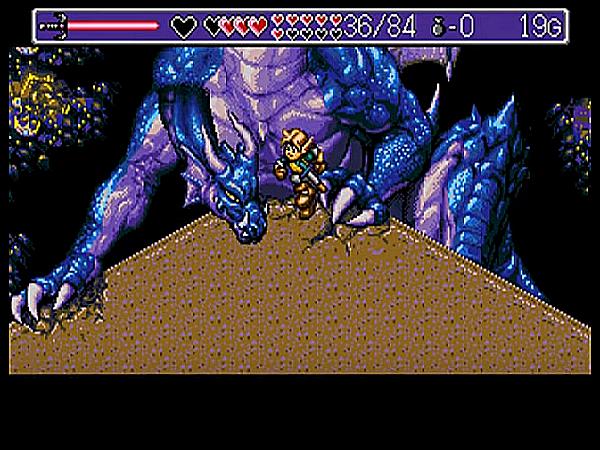 Q(怪龍出現將公爵燒死之後,主角只好與之奮戰。)