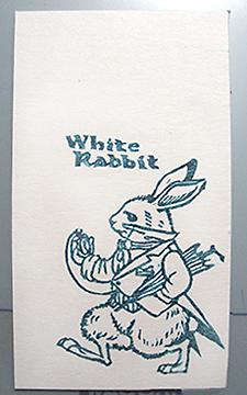 愛麗絲夢遊仙境-白兔
