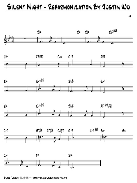 Silent Night Lead Sheet