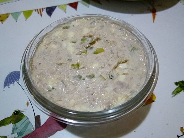 鮪魚酸黃瓜抹醬完成品