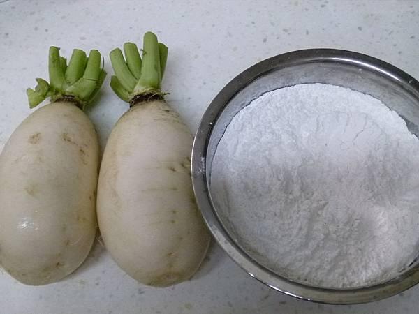 白蘿蔔糕材料