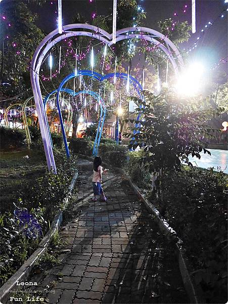 大里十九甲健康公園|可愛飛天豬、石虎花燈