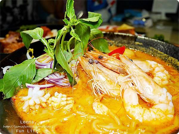 饗料理 員林南洋風味料理 剝殼蝦娘惹撈麵