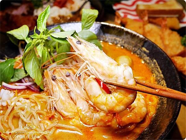 員林美食 饗料理 剝殼蝦娘惹撈麵