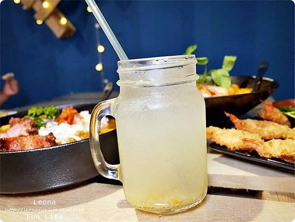 員林美食 饗料理 柚子冰茶