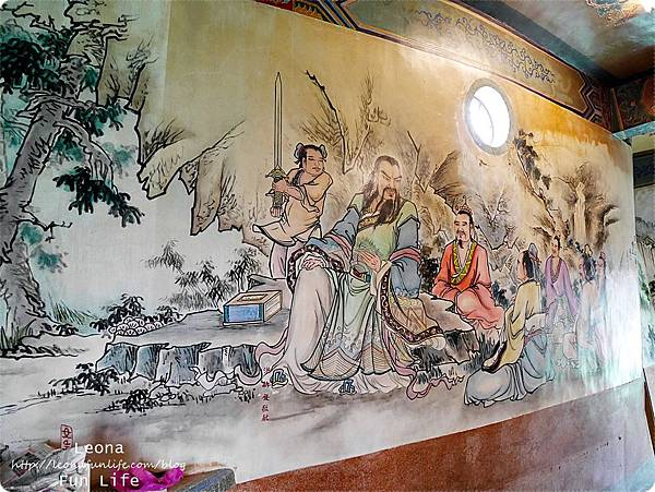 員林景點衡文宮神像內壁畫