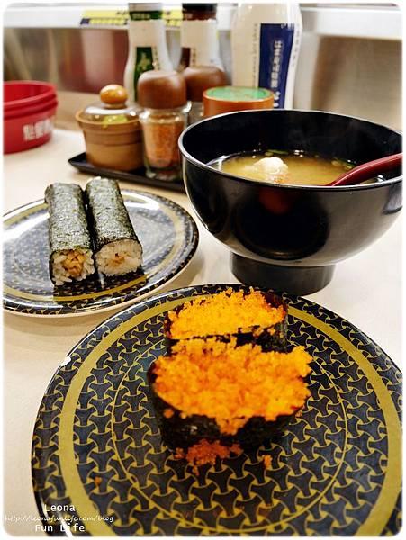 hama壽司大里柳葉魚卵軍艦和味增湯
