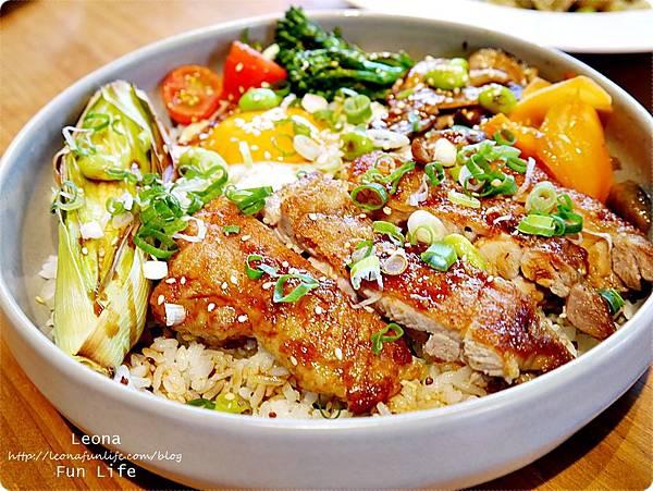 台中健康餐廳Bistro88 Light新菜油浸脆皮雞 紅藜麥 飯