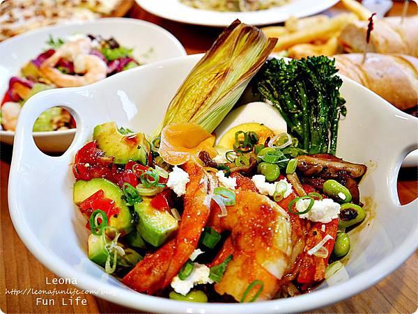 台中健康餐廳Bistro88 Light新菜乾扁鮮蝦酪梨紅藜麥飯[