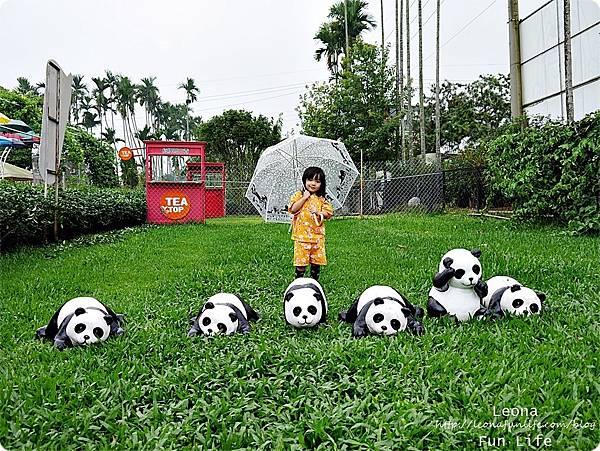 南投名間親子景點茶二指故事館熊貓打卡拍照點