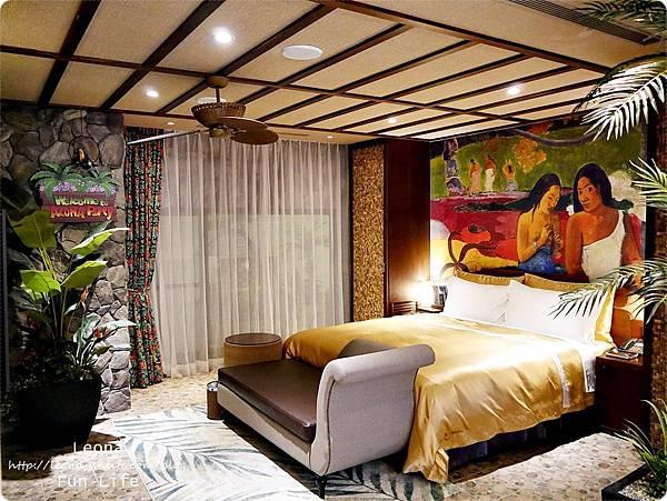 台中住宿|極光情境旅館-傳說系列火努魯魯房間內部