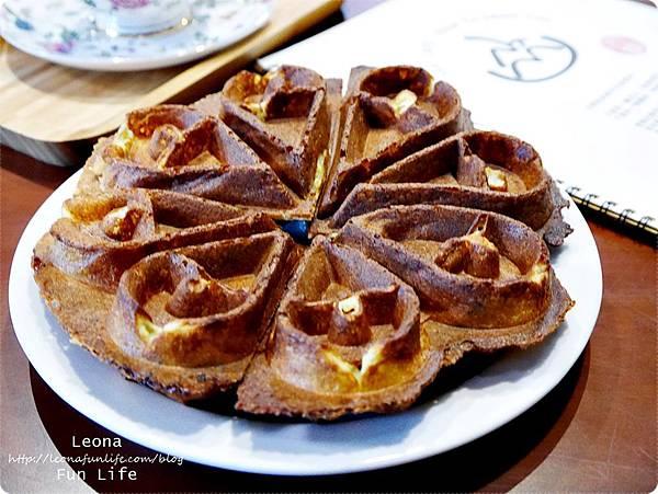 日式老屋幸卉文學咖啡 橙花莓果鬆餅