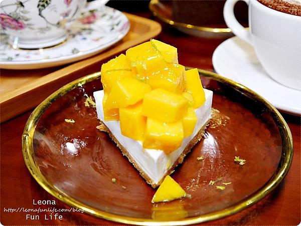 北海道芒果生乳酪蛋糕 幸卉文學咖啡