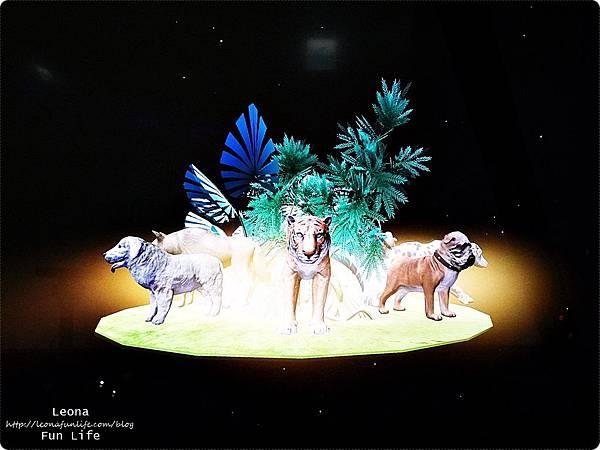 喜晶a光學觀光工廠 台中觀光工廠 台中室內親子景點 雨天備案 潭子親子景點 恐龍 布袋戲 射擊遊戲DSC08529