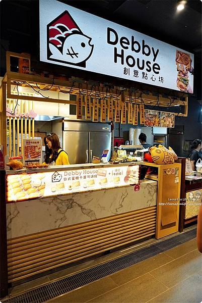 下午茶甜點推薦Debby House日式蜜糖千層可頌鯛魚燒-芋泥金沙一中商圈散步點心台中美食中友百貨DSC09822.JPG