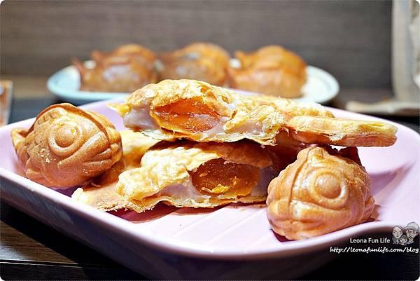 下午茶甜點推薦Debby House日式蜜糖千層可頌鯛魚燒-芋泥金沙一中商圈散步點心台中美食中友百貨DSC09861