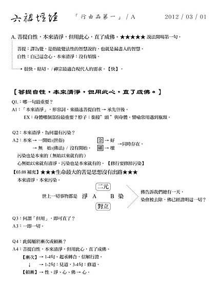六祖壇經- 03.08-菩提自性,本來清淨,但用此心,直了成佛。補充更新版。