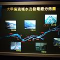 溫泉文化館內介紹大甲溪水域