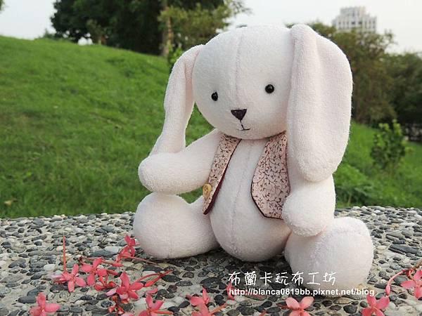 NO.2 粉粉毛巾布偶兔