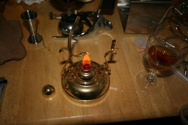 愛爾蘭咖啡器具-點火