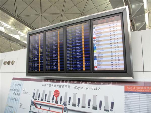機場電子看板