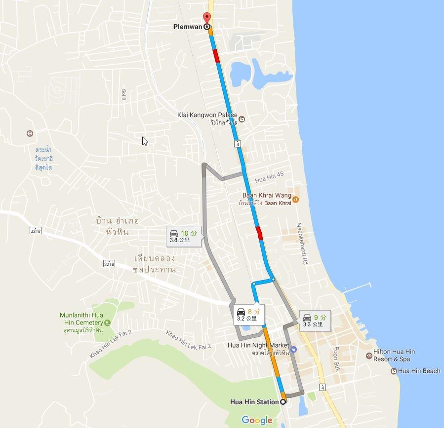 2017-03-06 21_04_22-Hua Hin Station 至 Plernwan - Google 地圖.jpg