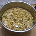 把杏鮑菇加在酸辣湯裡,很有口感