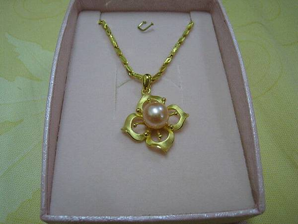 媽媽要戴的黃金珍珠項鍊