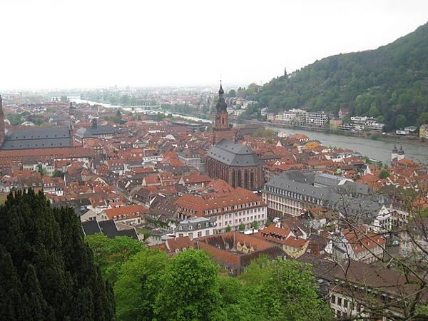 俯瞰海德堡市區