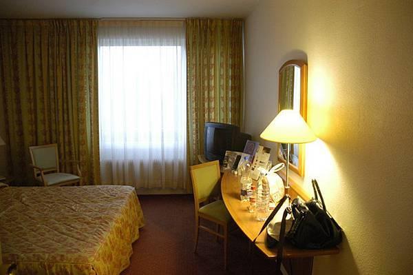 今日的飯店房間,因為很累,所以覺得很舒服