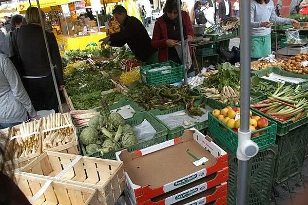 各式各樣的生鮮蔬果
