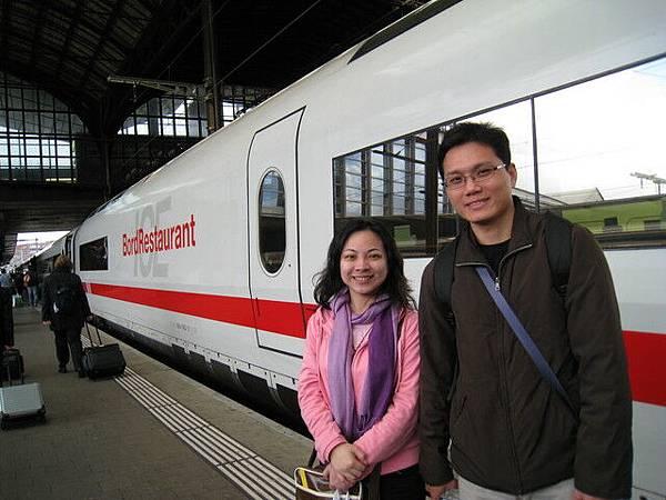 即將搭乘的子彈列車,要進入瑞士了