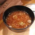 好喝的味噌湯,裡面有魚肉喔