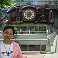 汐留日本TV電視台外的可愛時鐘
