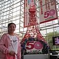 電視台裡的東京鐵塔模型